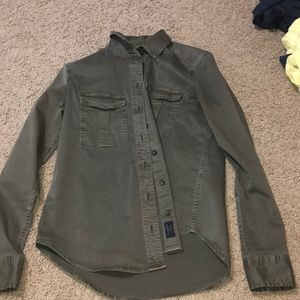 Abercrombie & Fitch military button up shirt